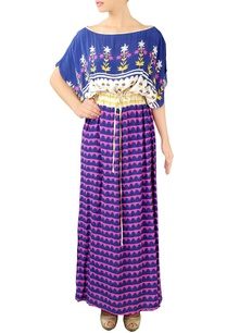 blue-pink-printed-kaftan-dress