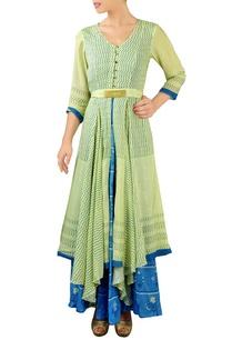 lemon-green-blue-layered-maxi-dress