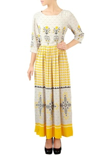 white-yellow-floral-maxi-dress