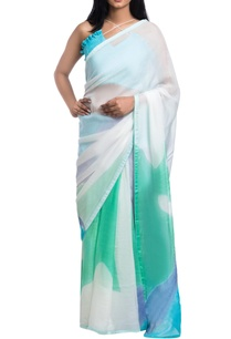 white-brush-painted-saree-with-blue-green-motifs