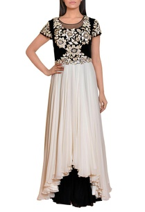 black-and-white-floral-embroidered-gown