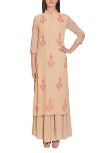 beige-and-pink-mirror-work-embroidered-tunic