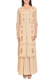 beige-floral-mirror-work-embroidered-tunic