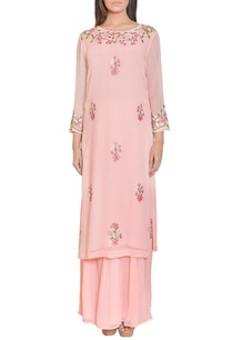 light-pink-floral-mirror-work-embroidered-tunic
