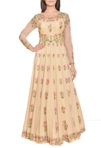 beige-floral-mirror-work-embroidered-gown