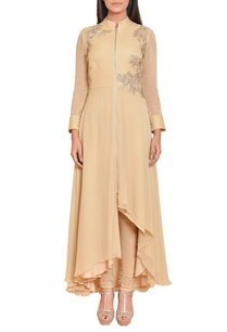beige-gold-floral-embroidered-zippered-tunic