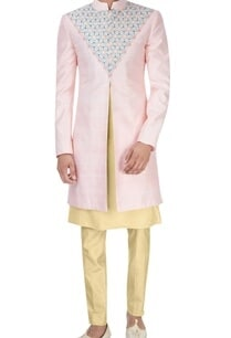 pink-cream-embroidered-sherwani-set