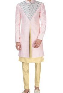 pink-cream-embroidered-sherwani-set
