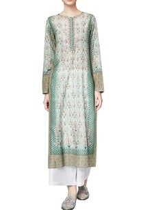 sage-green-cotton-voil-checksinia-straight-kurta