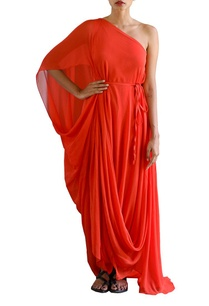 scarlet-red-one-off-shoulder-dress