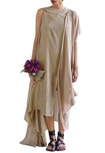 sandstone-one-sleeve-draped-dress