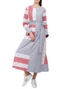 frill-and-bow-detail-midi-dress