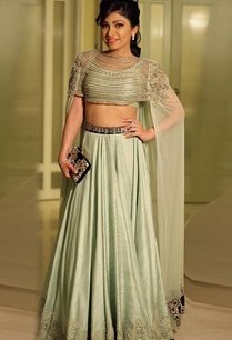 mint-green-embroidered-lehenga-with-extended-cape-blouse
