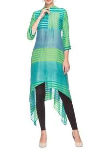 turquoise-green-printed-kurta