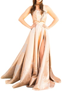 beige-gold-brocade-tube-gown
