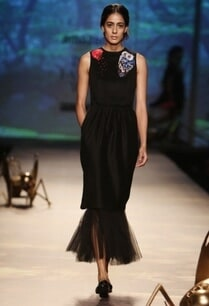black-owl-applique-paperbag-dress