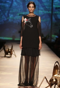 black-horse-applique-top-with-tiered-dress