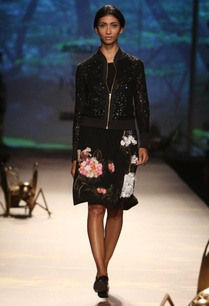 black-hydrangea-applique-dress