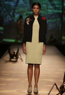 black-applique-jacket-with-pale-green-dress