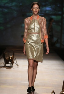antique-gold-sequinned-dress