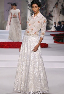 ivory-sequinned-lehenga-with-floral-embroidered-shirt-and-blouse