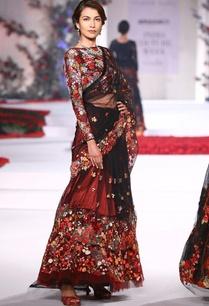 floral-embroideried-sari-lehenga