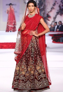 maroon-rose-embroidered-lehenga