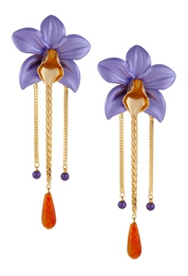 orchid-shape-drop-earrings