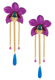 oversized-floral-orchid-shape-earrings