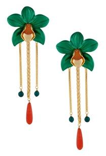dual-color-floral-drop-earrings