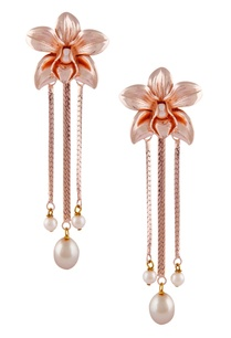 floral-drop-earrings-with-pearls
