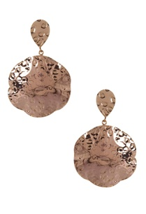beaten-effect-circular-earrings