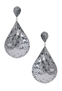 teardrop-beaten-metal-earrings