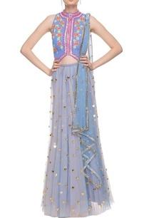 vista-blue-bead-work-embellished-lehenga-set