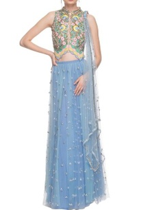 vista-blue-sequined-and-floral-work-lehenga-set