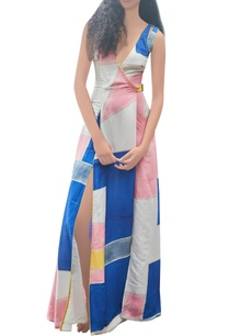 white-blue-pink-hand-painted-dress