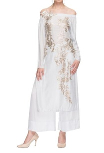white-embellished-off-shoulder-kurta-palazzo
