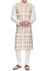 white-floral-embroidered-kurta