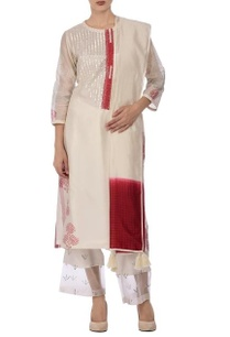 white-red-motif-mirror-embroidered-kurta-set