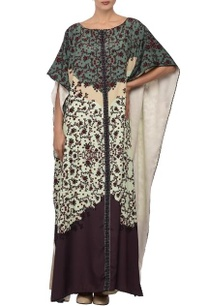 white-violet-printed-kaftan-dress