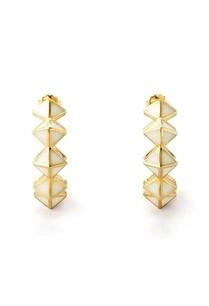 white-pyramid-resin-hoop-earrings