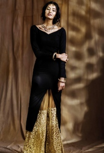 black-kurta-with-beige-embroidered-palazzos