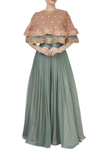 sage-green-palazzo-with-a-dusky-pink-cape