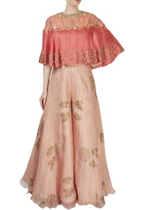 light-pink-printed-palazzo-with-a-coral-cape