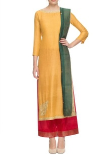 yellow-thread-embroidered-kurta-with-palazzos