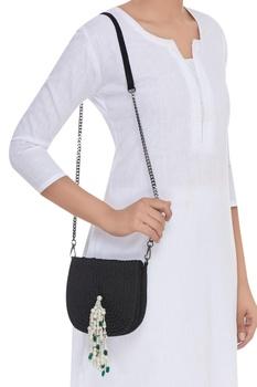 Rope Embellished Sling Bag