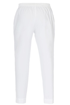 White fitted straight trousers