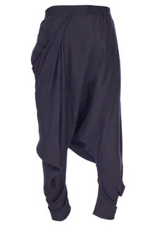 Navy blue cowled solid dhoti pants