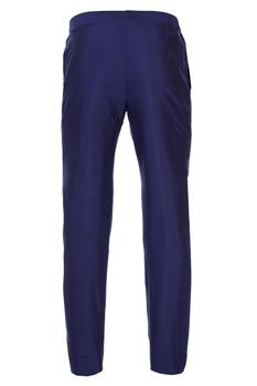 Blue tailored single button closure pants