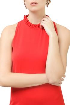 Halter Neck Shift Gown